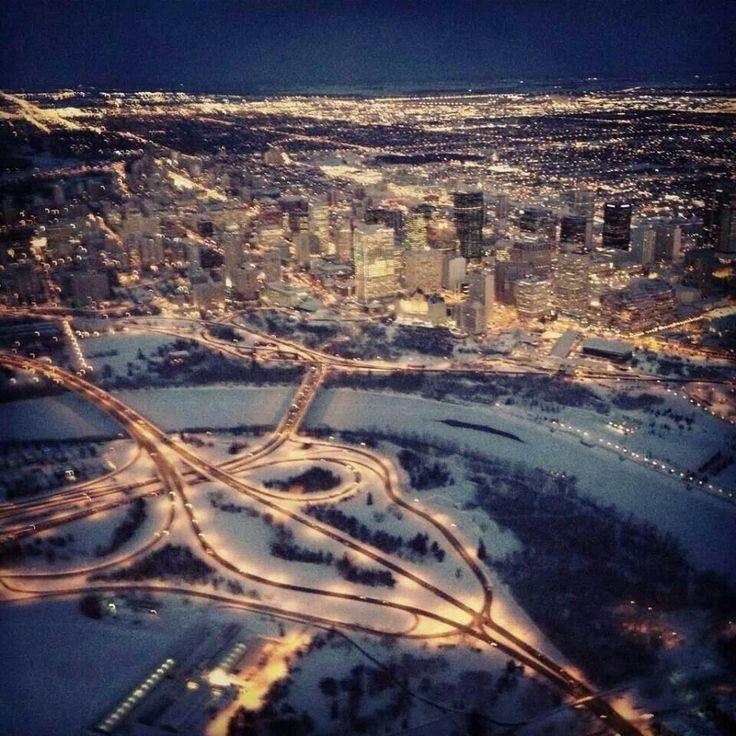 Aerial view of downtown Edmonton. ..gorgeous