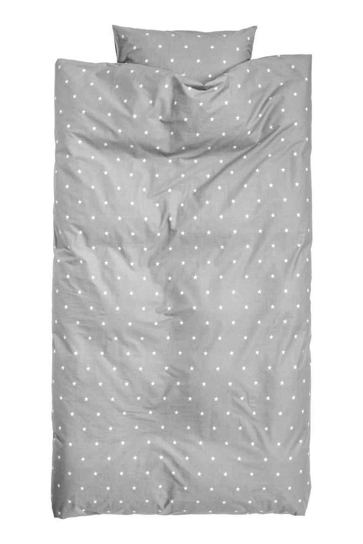 Star-print duvet cover set - Grey/Stars - Home All | H&M GB 1