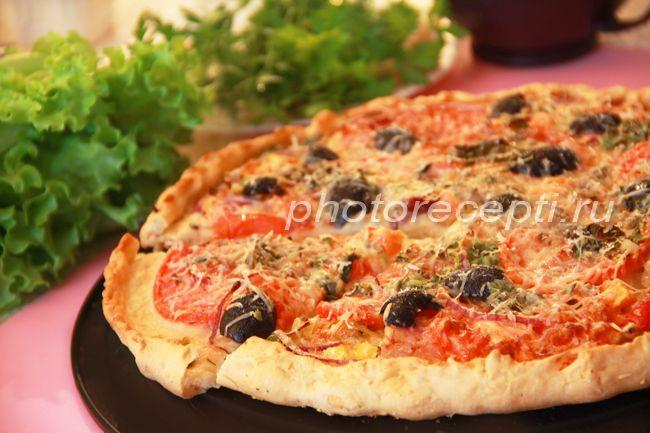 Пицца с беконом жвачка