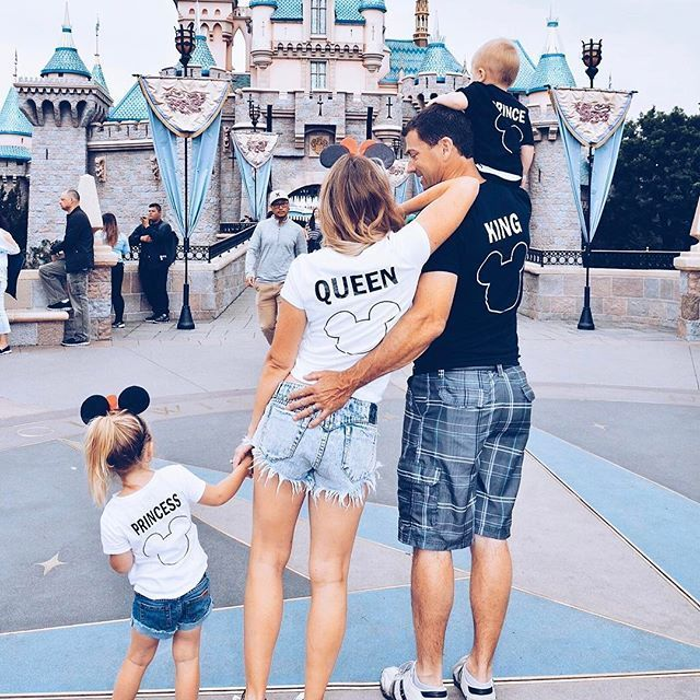 Disney with Presley Disneyland outfits for the whole family! These super cute matchy matchy shirts were the perfect touch to our Disneyland trip. Disneyland shirts for the family are the way to go!