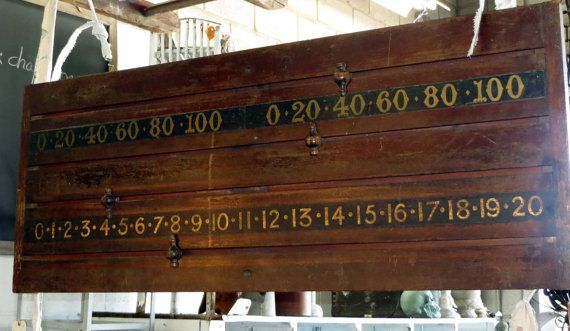 Antique Snooker Game Scorer via Etsy