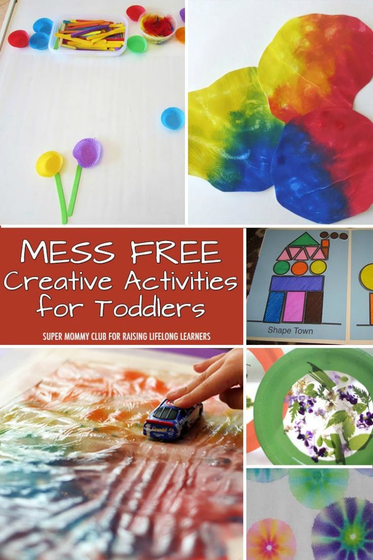 Want to keep your toddlers busy and engaged -- without making a mess? These mess free creative activities for toddlers are for you! Click to check them out.