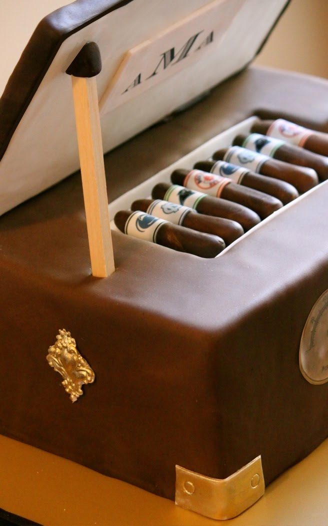 Not a fan of cigars.  But what an awesome idea of a cake