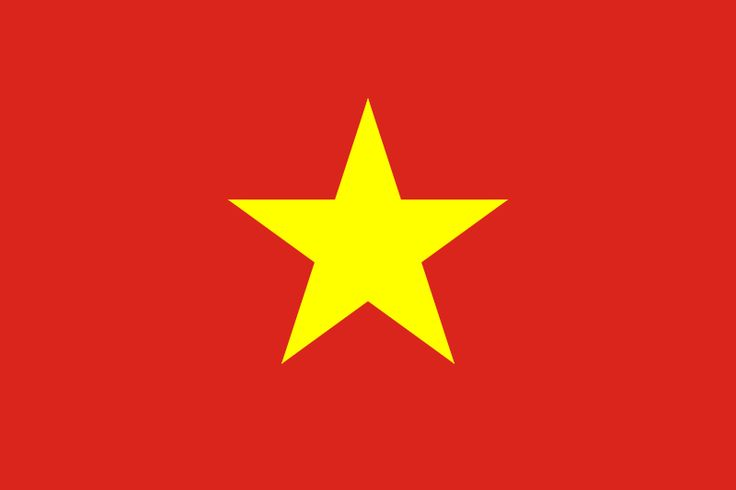 The Vietnam flag was officially adopted on November 30, 1955.     The gold five-pointed star symbolizes the five groups of workers in the building of socialism (intellectuals, peasants, soldiers, workers and youths), while the red symbolizes bloodshed, and the revolutionary struggle.