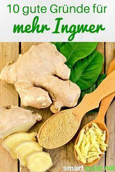 Ingwer ist eine erstaunlich vielseitige Knolle. Sie ist nicht nur ein tolles Gewürz in der Küche, sondern hilft bei vielen gesundheitlichen Leiden!