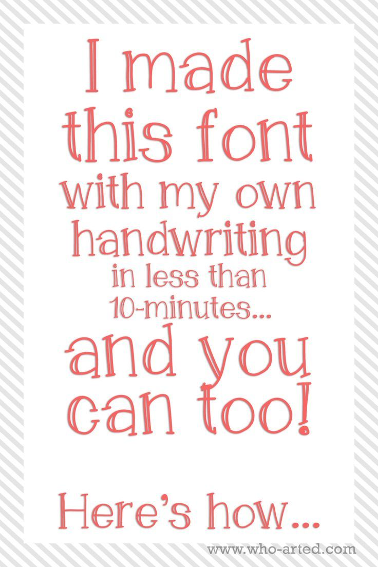 How To Make Your Own Font For FREE Crazy Easy