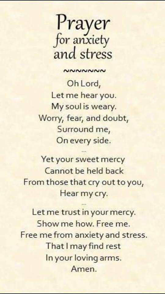 Prayer for those with anxiety and stress