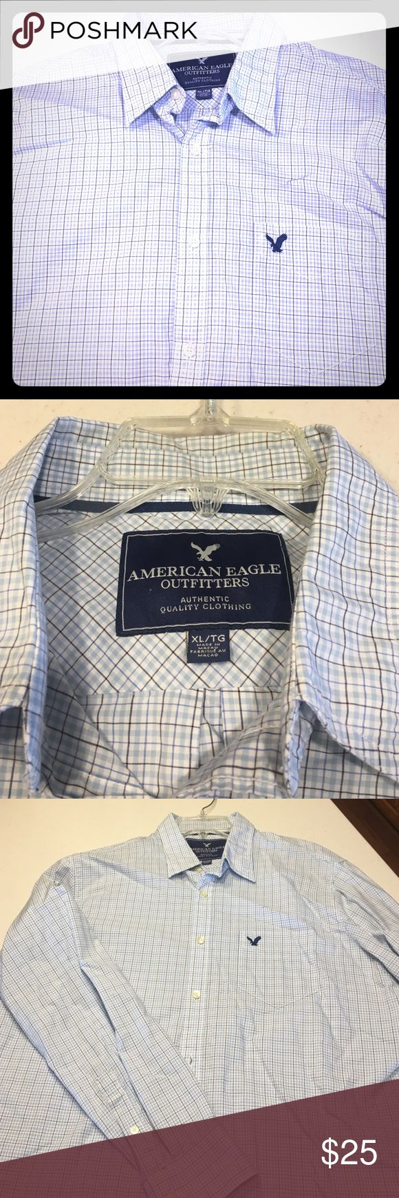Classic American Eagle button up- worn once! Very classy dress shirt/button up. Worn once for an hour. Like new! American Eagle Outfitters Shirts Casual Button Down Shirts