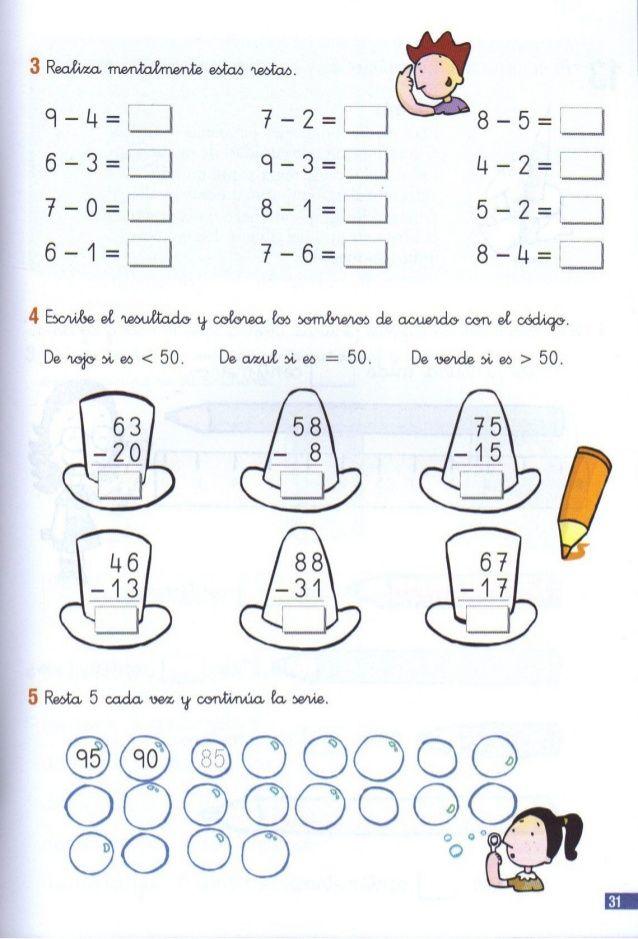 110 problemas de matematicas pdf primer grado | Primeros ...