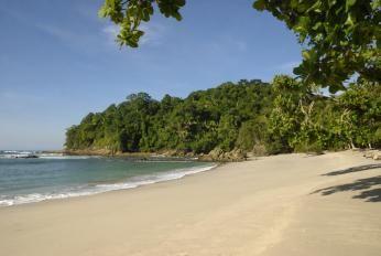 Strand ved Manuel Antonio Nationalpark i Costa Rica