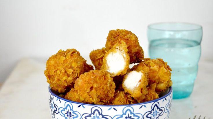 Palomitas de pollo. Bolitas de pollo fritas muy crujientes ¡Y muy fáciles!