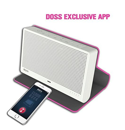 DOSS Cloud Book Wireless Bluetooth 4.0 & Wi-Fi Streaming Music Speaker PINK NIB #DOSS