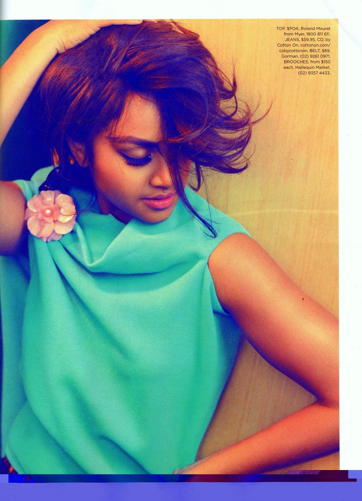 Jessica Mauboy looking pretty as a petal in our pink brooch!