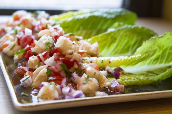Rick Bayless   Shrimp Tacos with Lime Dressing and Crunchy Vegetables