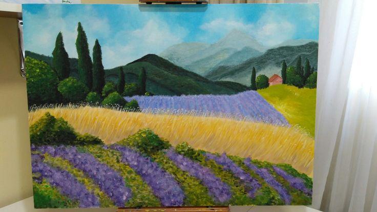Acrílico sobre tela: Toscana