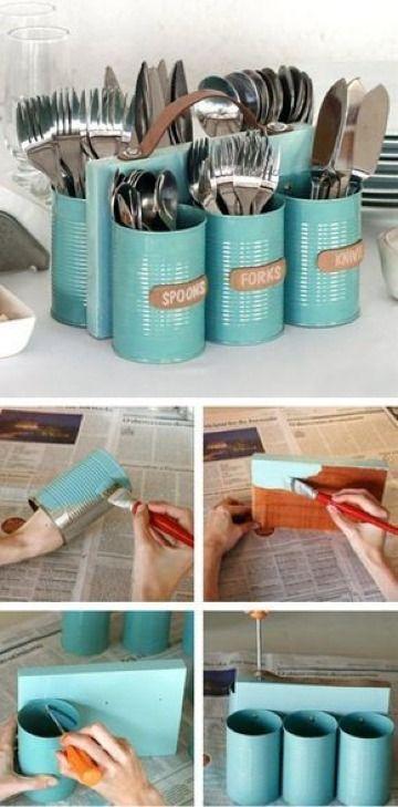 Creativas decoraciones recicladas para el hogar - Decoracion con reciclaje para el hogar ...