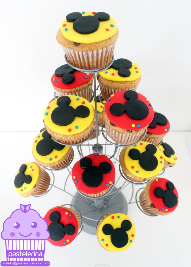 Mickey Mouse cupcakes, $2.25 per cupcake. $90 for 40 cupcakes