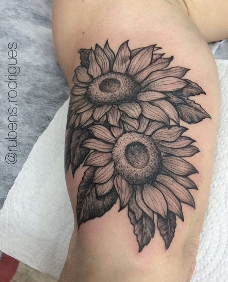 124 best images about flower tattoos for women on for Sunflower temporary tattoo