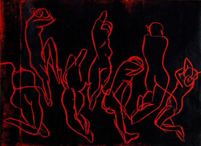 """Woodcut called """"Seven nights"""""""