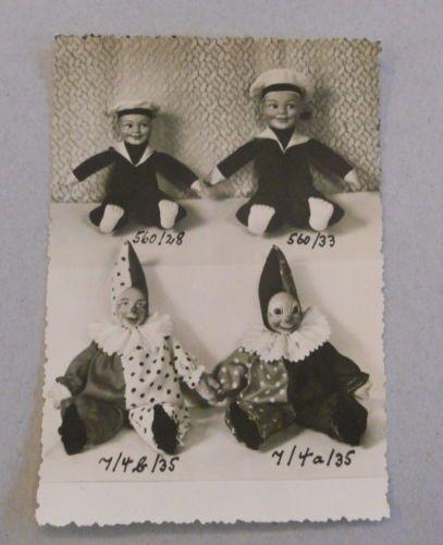 Thueringer-Puppen-Matrose-Clown-Spielzeug-Foto-Karte-Produktkarte-Leschhorn