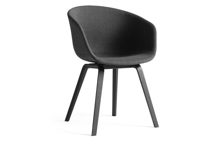 About A Chair AAC23 Upholstered Dining Chair, Black Stained Legs Remix 2 113 by…