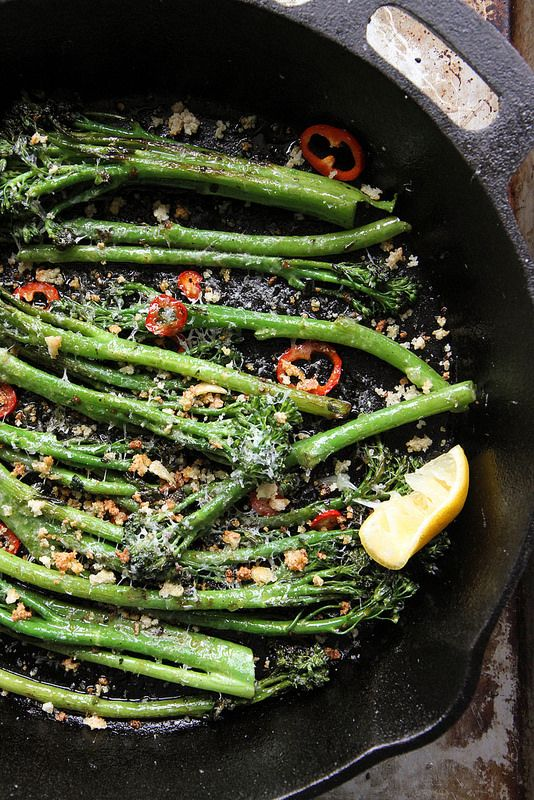 Broccoli Rabe With Balsamic Brown Butter Recipe — Dishmaps
