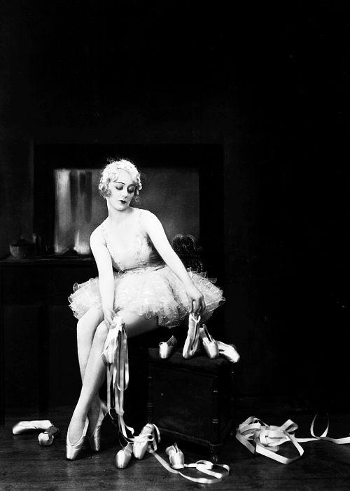 spectredelarose: Ballerina Madeleine Parker in her dressing room, 1929