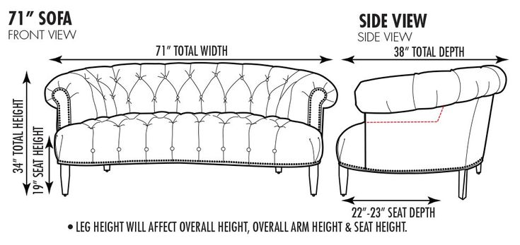 The Truman Custom Curved Chesterfield Sofas & More ...