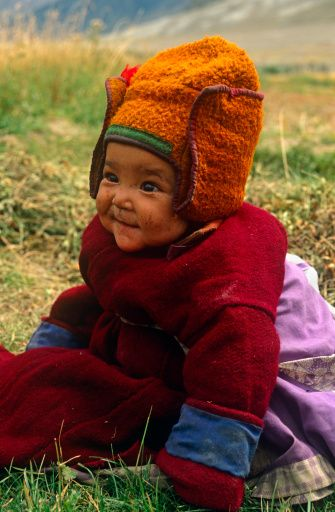 is that a happy baby, or what? :) Just looking at this picture makes me smile. A Mongolian child - don't know details.