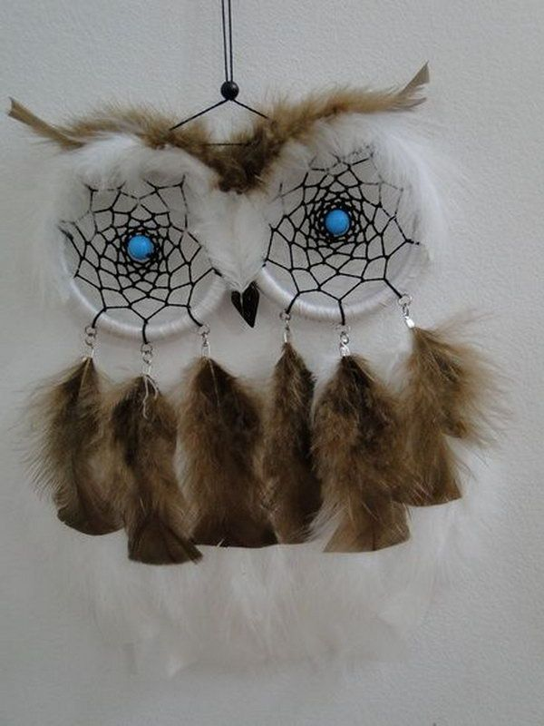 DIY Cute Owl Dream Catcher .& many more fantastic and beautiful dreamcatchers