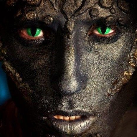 Maquillage professionnel effets spéciaux - Christelle Lays  Maquillage monstre réalisé avec des prothèses latex et du plasto wax de chez Makeup for ever ,lentilles verte pour maquillage artistique