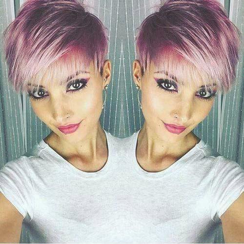 Kurze Haare 2 Farbig Farben Modische Haarschnitte Und
