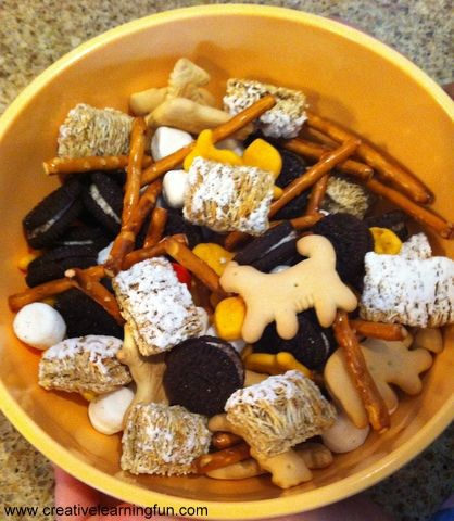 A Creation Trail Mix Recipe to use while studying the Bible Story of Creation.