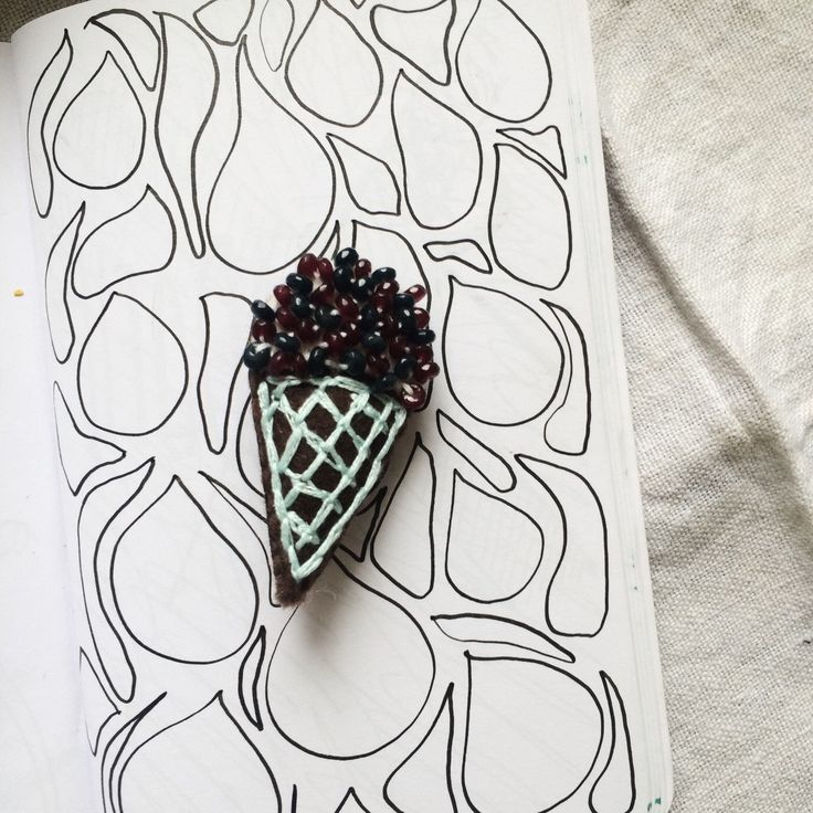 Ice-cream brooche by mossonatree on Etsy