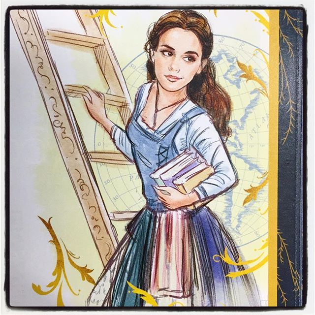Emma Watson as Belle - Art