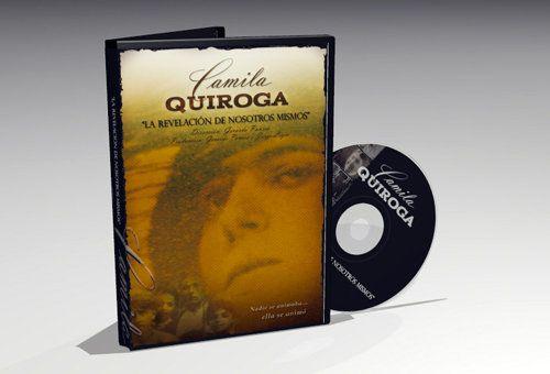 """Diseño de cubierta para el documental en DVD """"Camila Quiroga"""""""