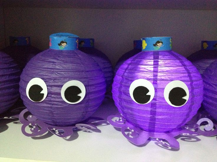 Octopus lanterns for an ocean themed classroom