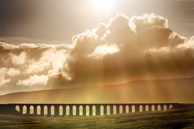 Ribblehead Viaduct is in North Yorkshire on the famous Leeds-Settle-Carlisle railway which passes through some of England's most stunning countryside.
