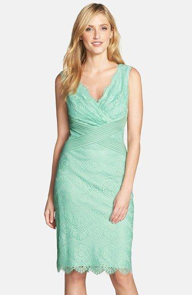 Tadashi Shoji Mixed Media Sheath Dress (Regular & Petite) available at #Nordstrom