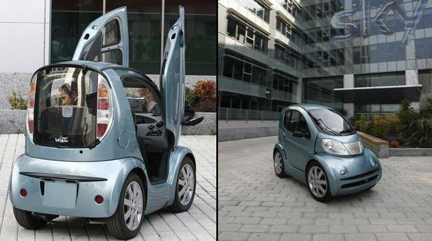 Possibly the smallest electric car in the world, built by the Italian automotive designer Romano Artioli. www.ecoglobalsociety.com