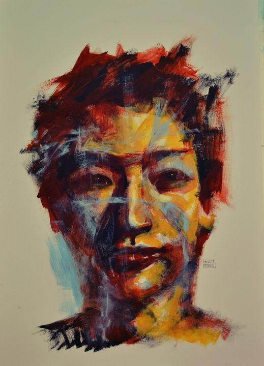 Asiatic boy - Michele Petrelli Painter