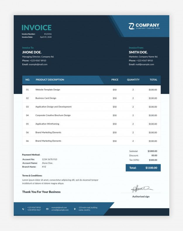 Modern Business Invoice Template Invoice Template Invoice Design Invoice Design Template
