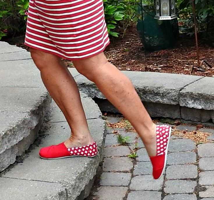 Giant Tiger red tom canada shoes  @gtboutique #canadaproud #fashionover50…