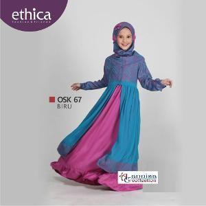 Baju Gamis Pesta Anak Ethica OSK 67 Biru