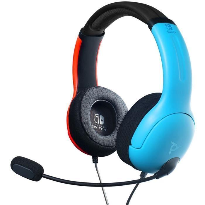 Casque Pdp Lvl40 Bleu Rouge Pour Switch Casque Console De Jeux Video Casque Filaire
