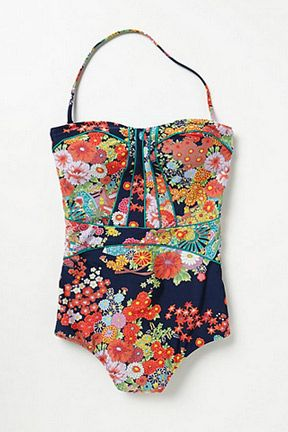 Perfect Floral Swimsuits for Summer- So much going on who can notice your shape (or lack of)