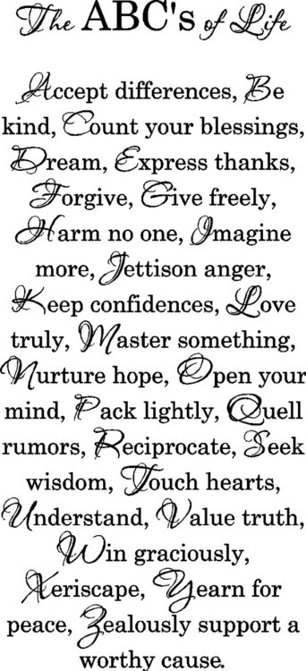 """""""The ABC's of Life""""Words Of Wisdom, Life Quotes, Abc, Kids Room, Things, Wall Art Decals, Living, Inspiration Quotes, Vinyls Wall Art"""