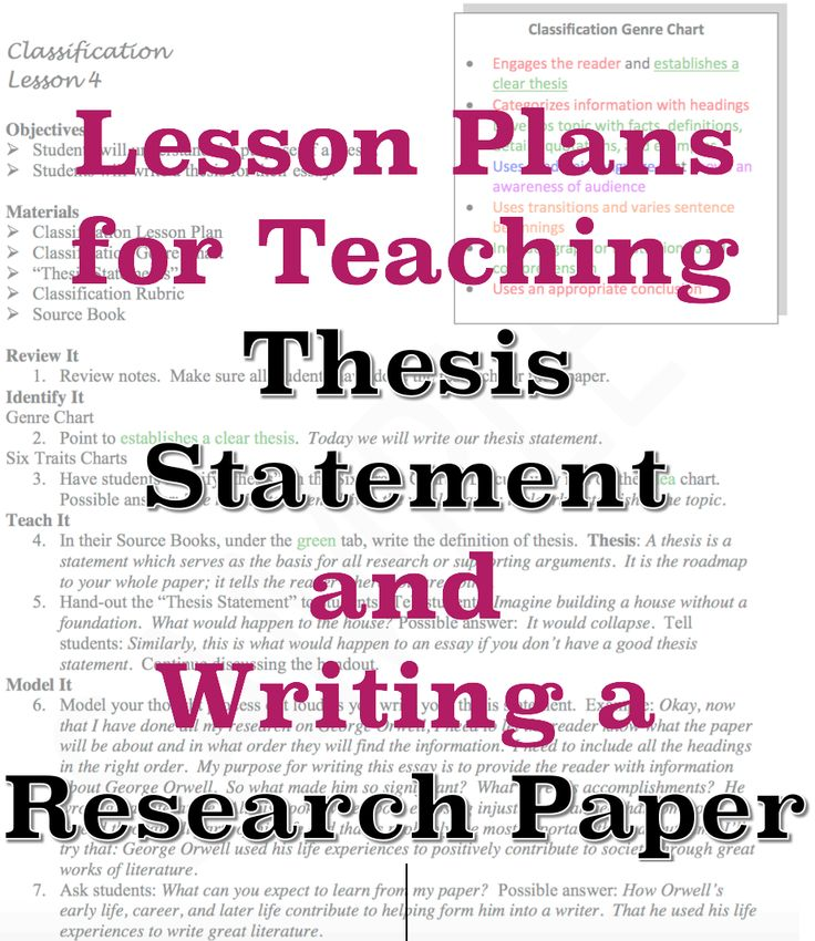 Research Paper Thesis Statement What makes a good thesis statement