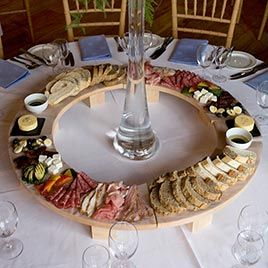 Oh wow , lazy Susan antipasti starter course  , how clever , great for informal and Barn Weddings Catering