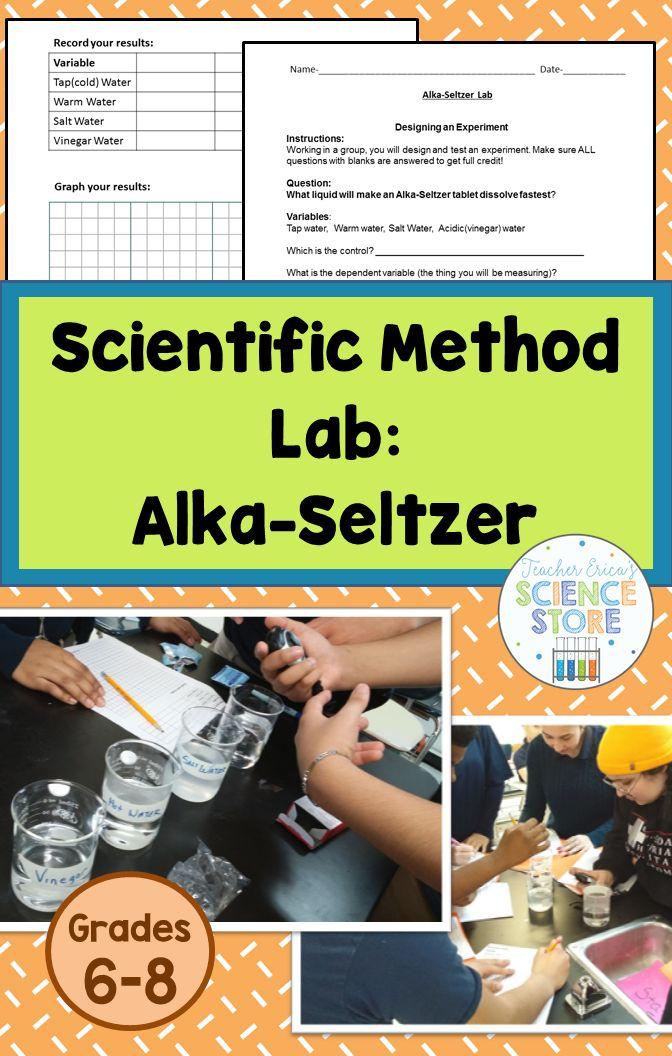 Scientific Method Lab AlkaSeltzer School science